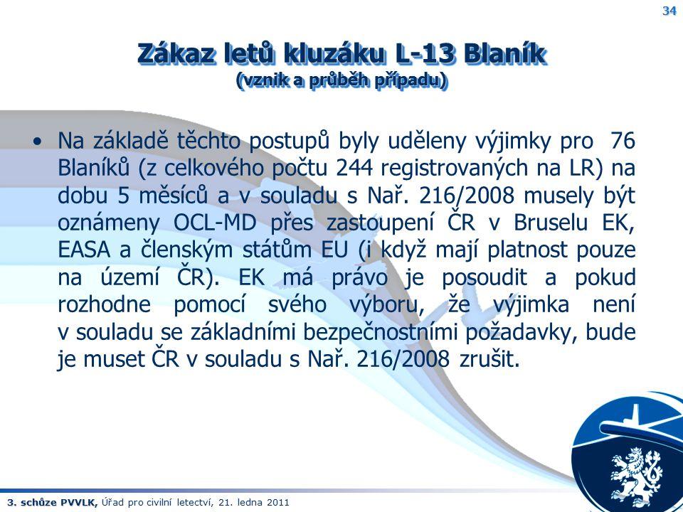 Zákaz letů kluzáku L-13 Blaník (vznik a průběh případu)