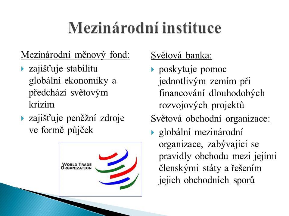 Mezinárodní instituce