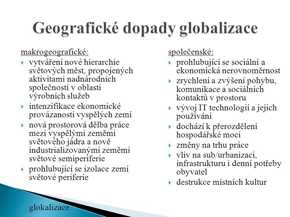 Geografické dopady globalizace