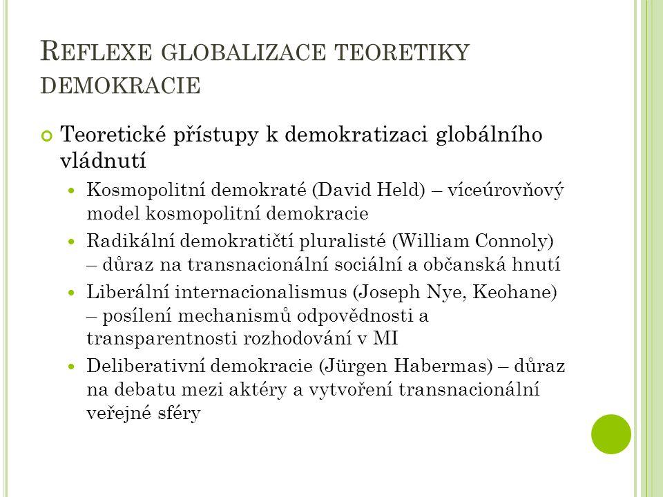 Reflexe globalizace teoretiky demokracie