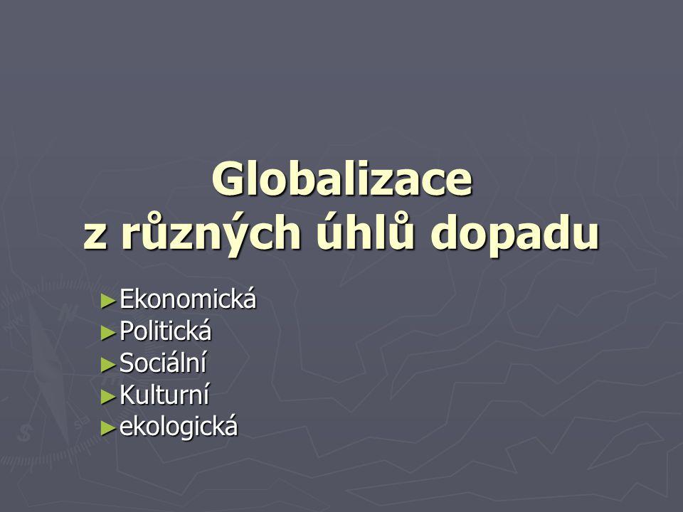 Globalizace z různých úhlů dopadu