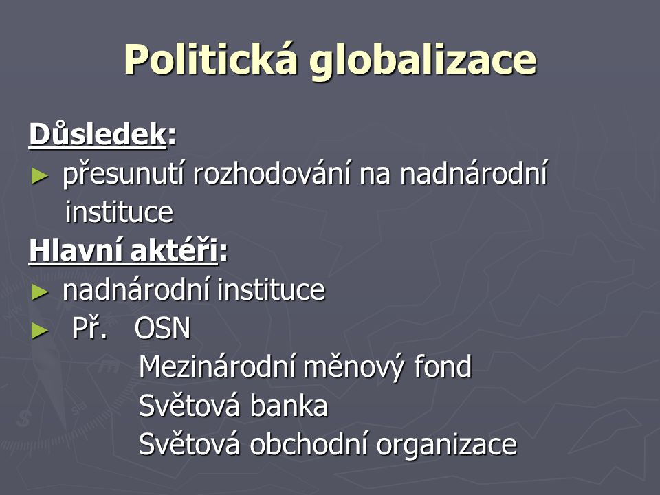 Politická globalizace