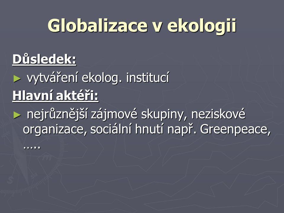 Globalizace v ekologii