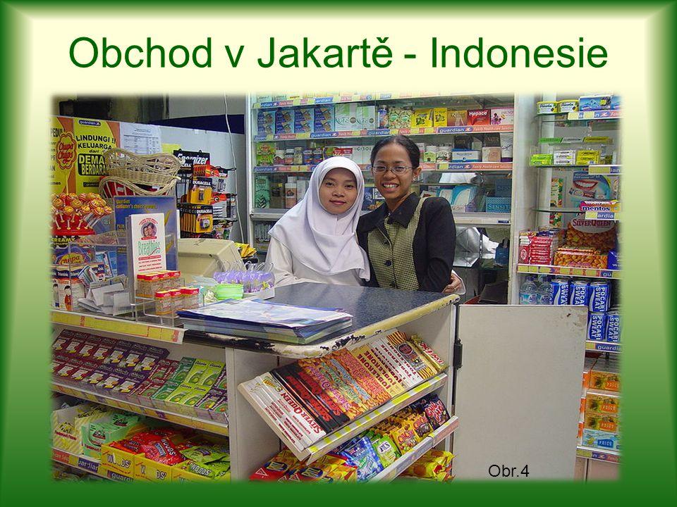 Obchod v Jakartě - Indonesie