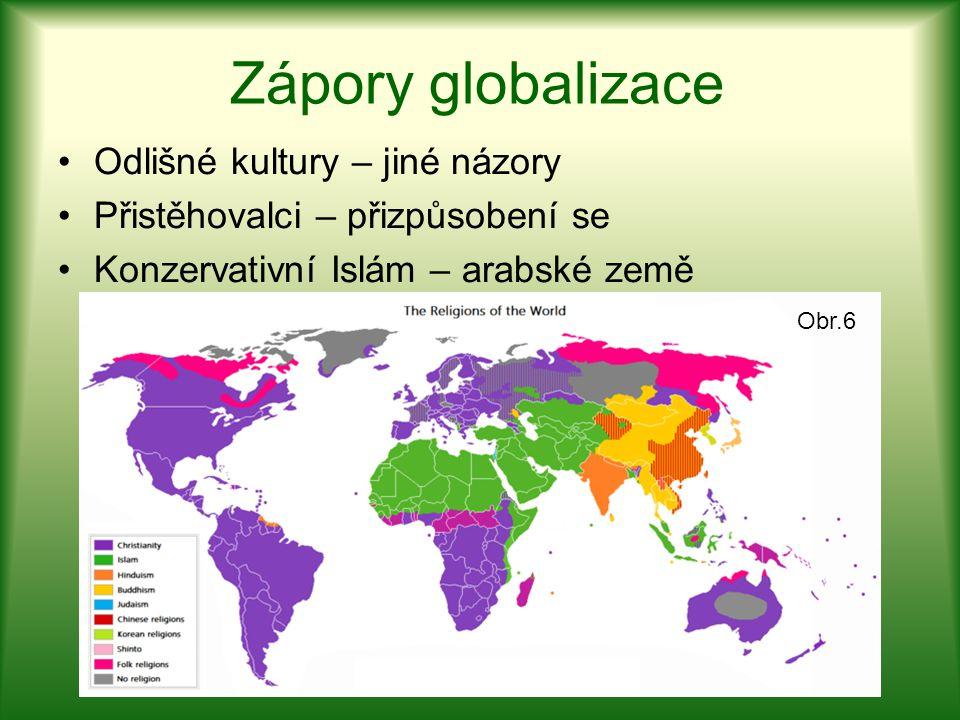 Zápory globalizace Odlišné kultury – jiné názory