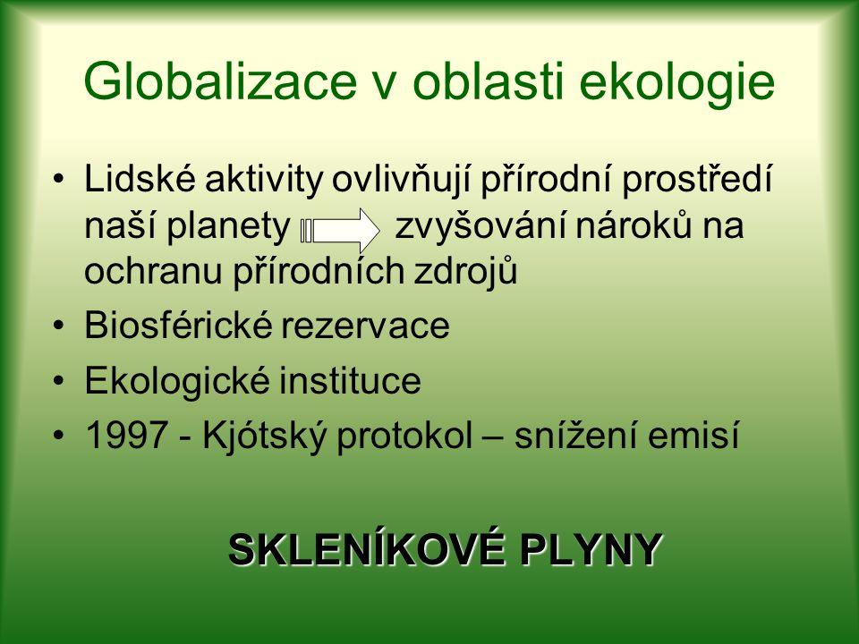 Globalizace v oblasti ekologie