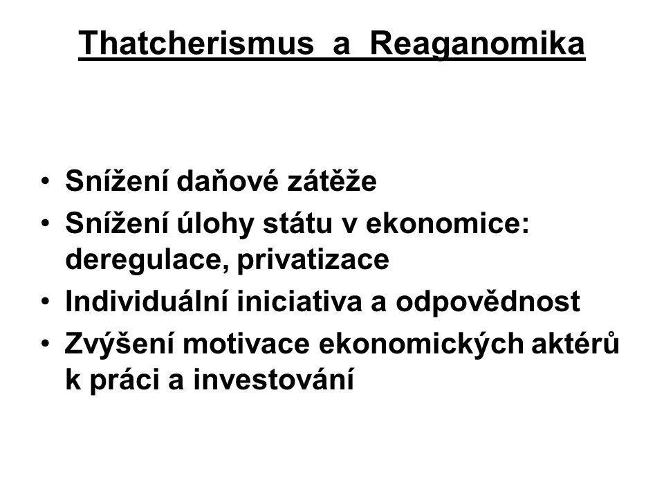 Thatcherismus a Reaganomika
