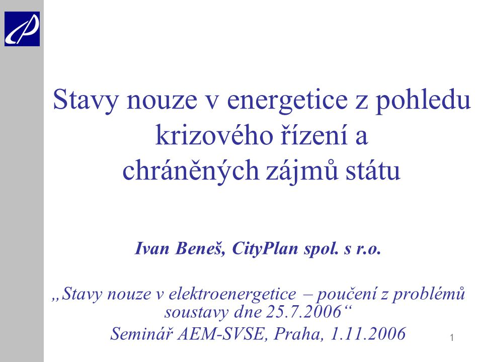 Ivan Beneš, CityPlan spol. s r.o.