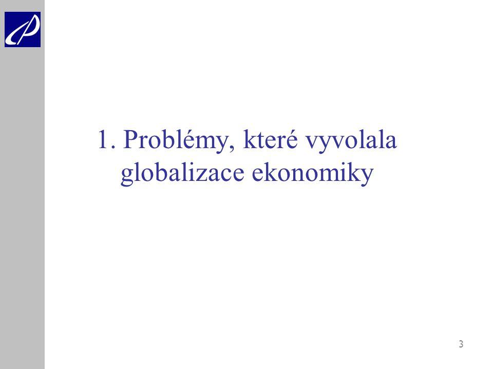 1. Problémy, které vyvolala globalizace ekonomiky