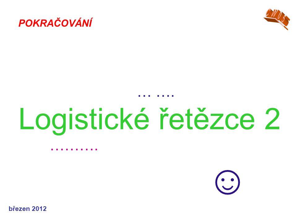 … …. Logistické řetězce 2 ………. ☺