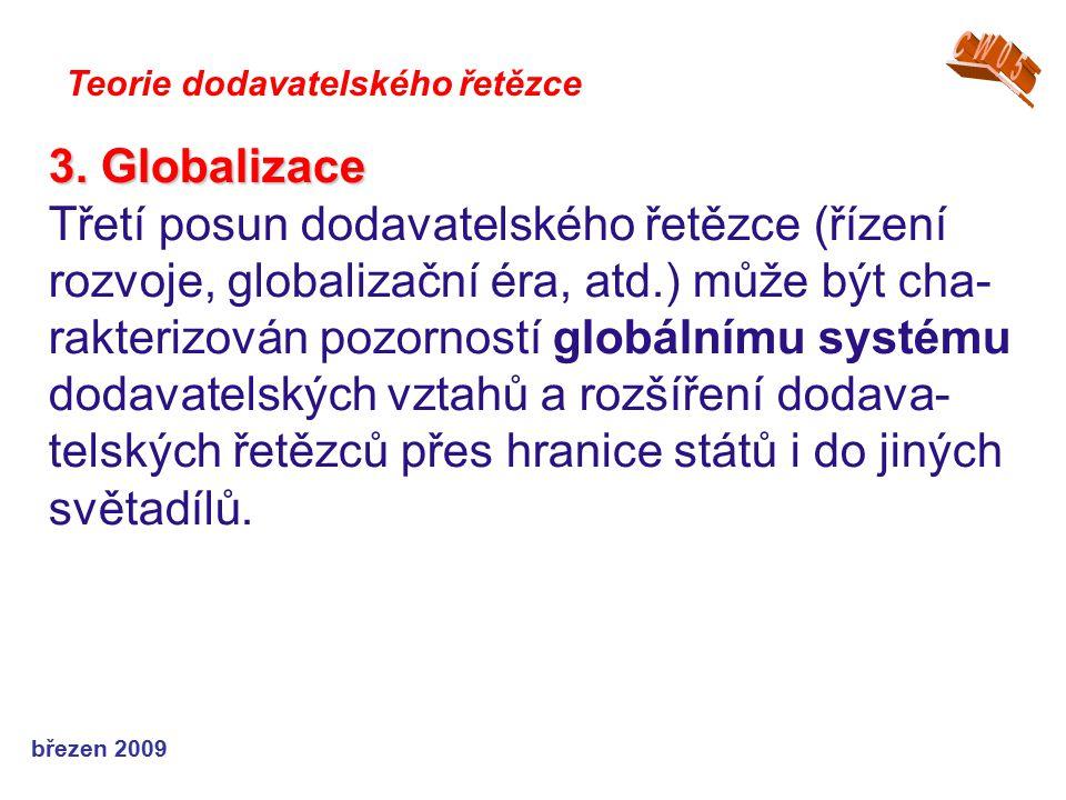 CW05 Teorie dodavatelského řetězce. 3. Globalizace.