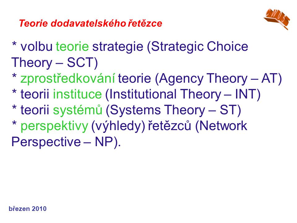 * volbu teorie strategie (Strategic Choice Theory – SCT)