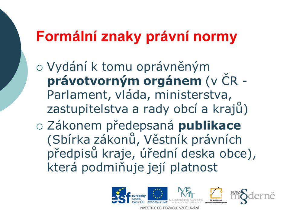Formální znaky právní normy
