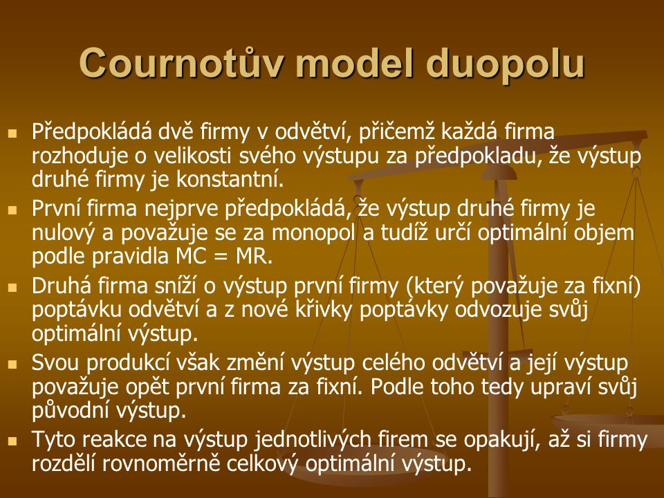 Cournotův model duopolu