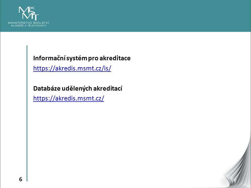 Informační systém pro akreditace