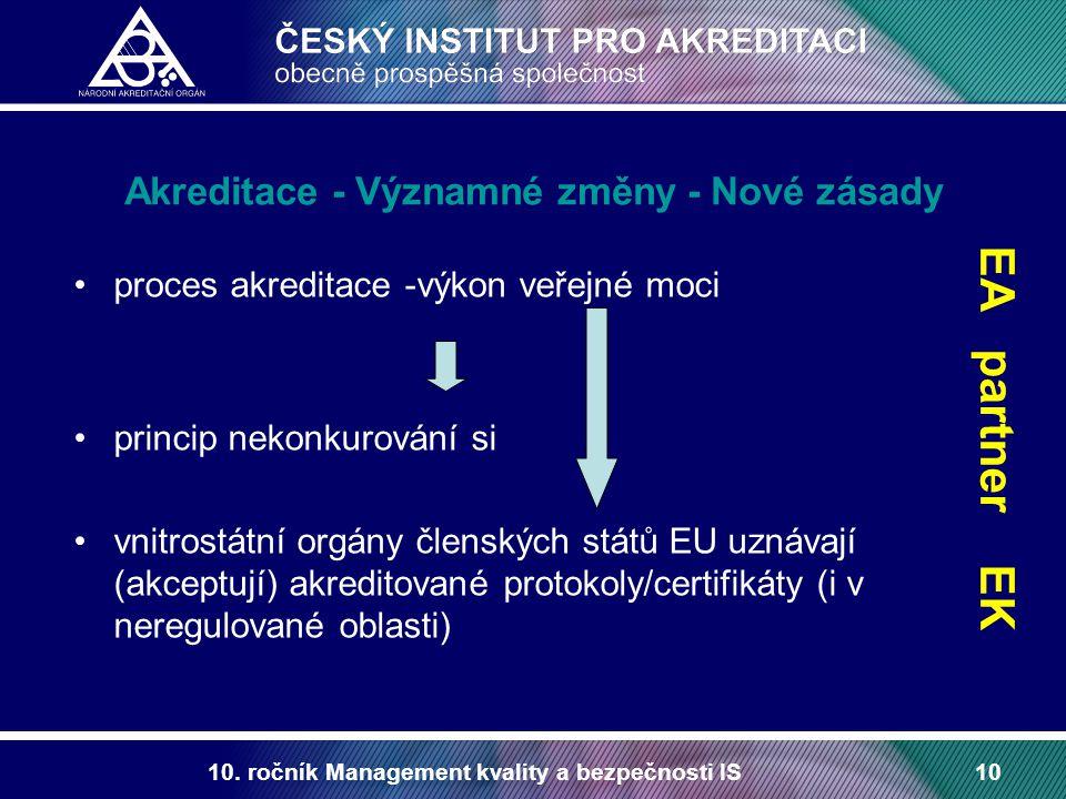 Akreditace - Významné změny - Nové zásady