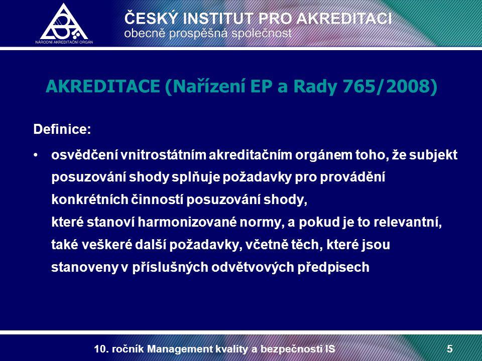 AKREDITACE (Nařízení EP a Rady 765/2008)