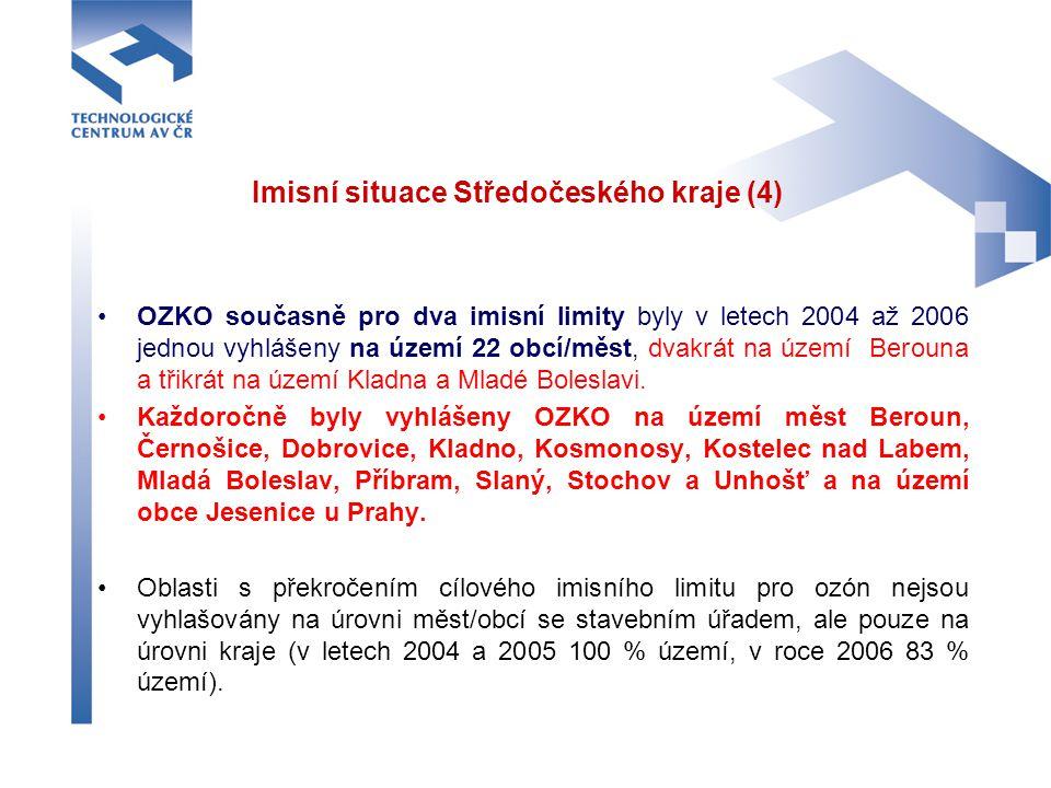 Imisní situace Středočeského kraje (4)