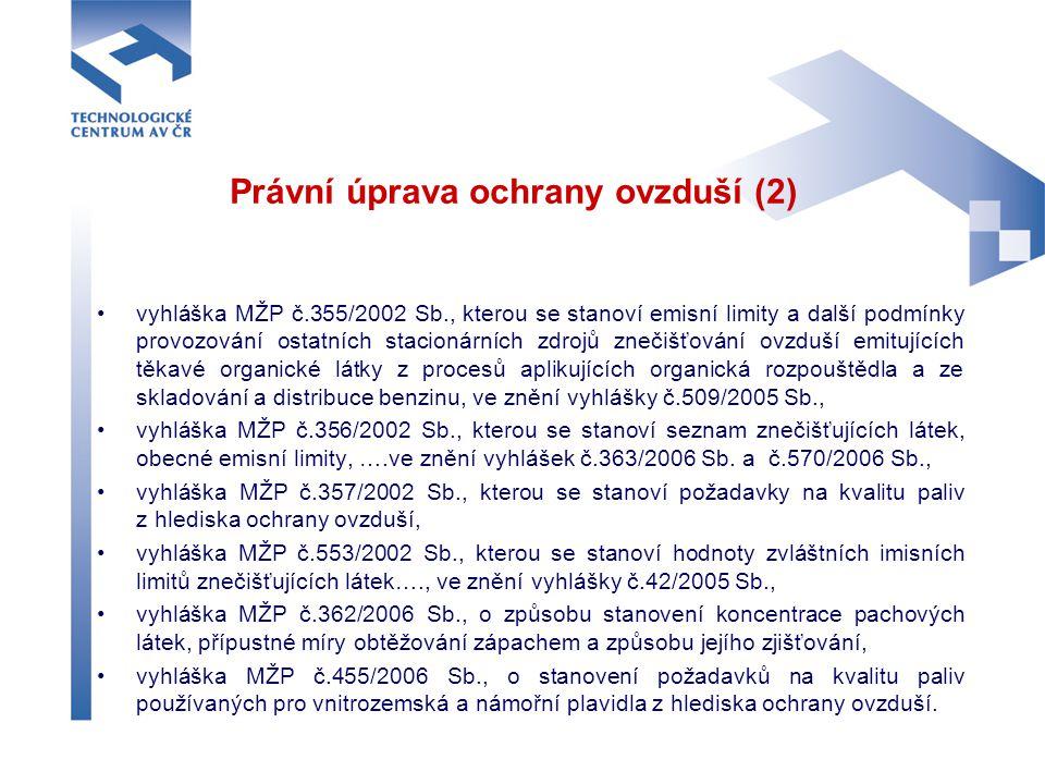 Právní úprava ochrany ovzduší (2)