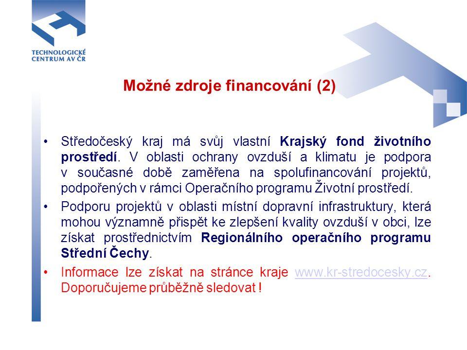 Možné zdroje financování (2)