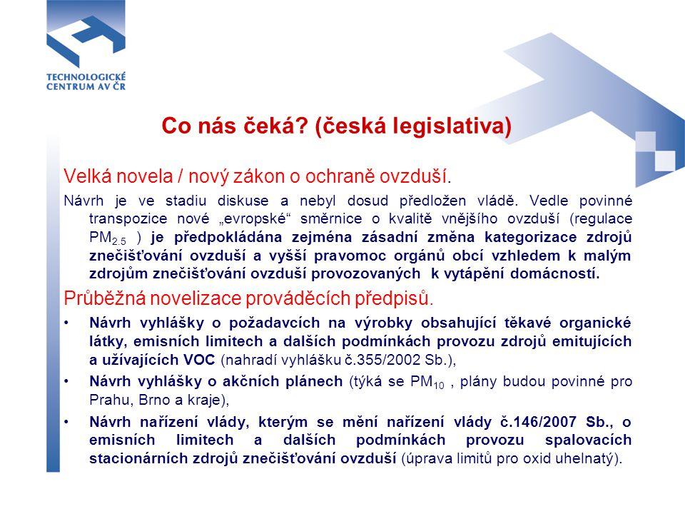 Co nás čeká (česká legislativa)