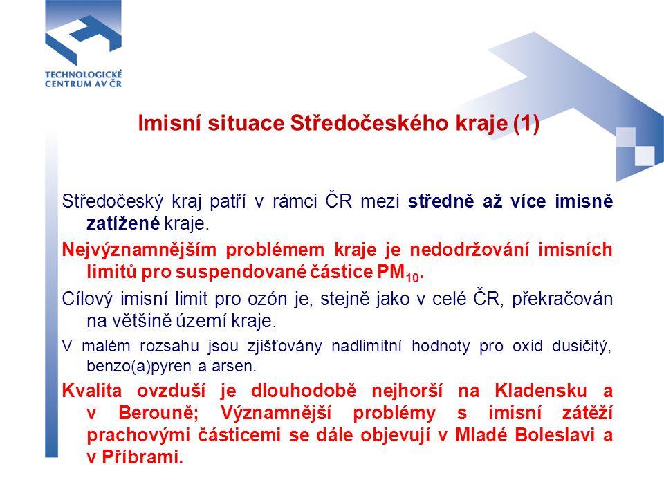 Imisní situace Středočeského kraje (1)