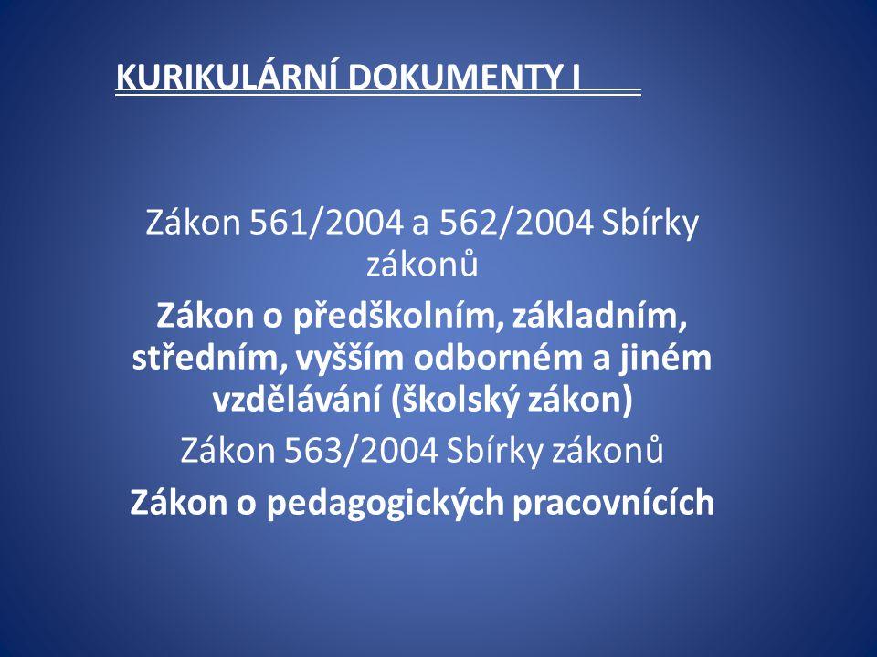KURIKULÁRNÍ DOKUMENTY I