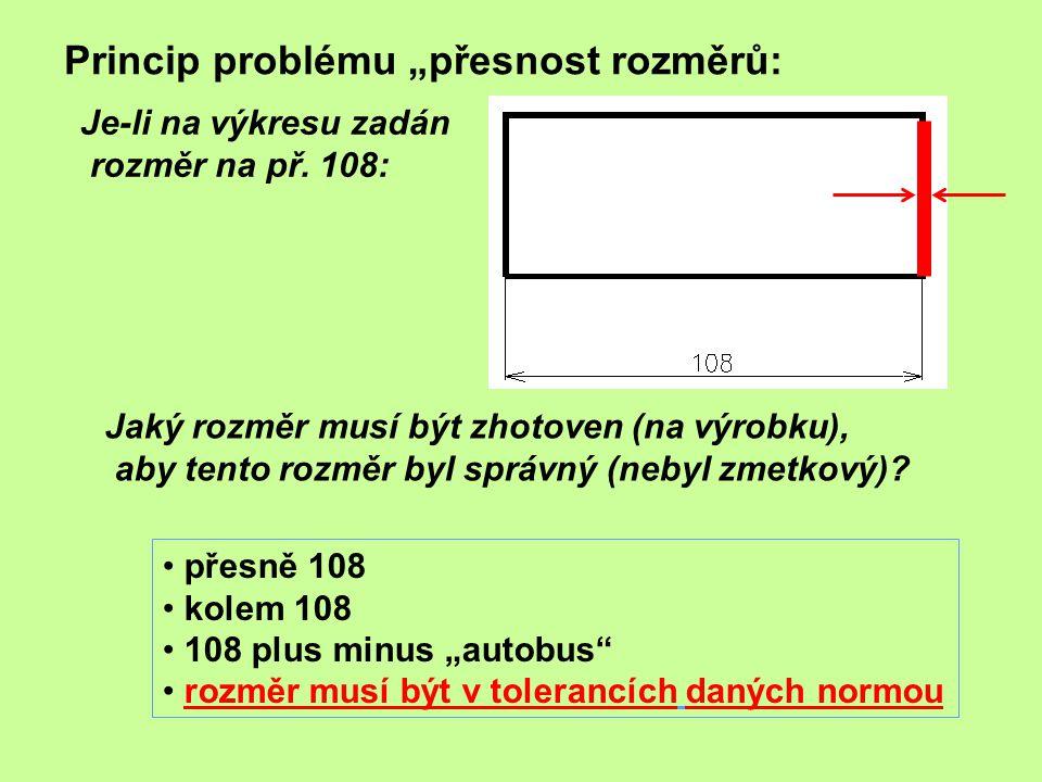 """Princip problému """"přesnost rozměrů:"""