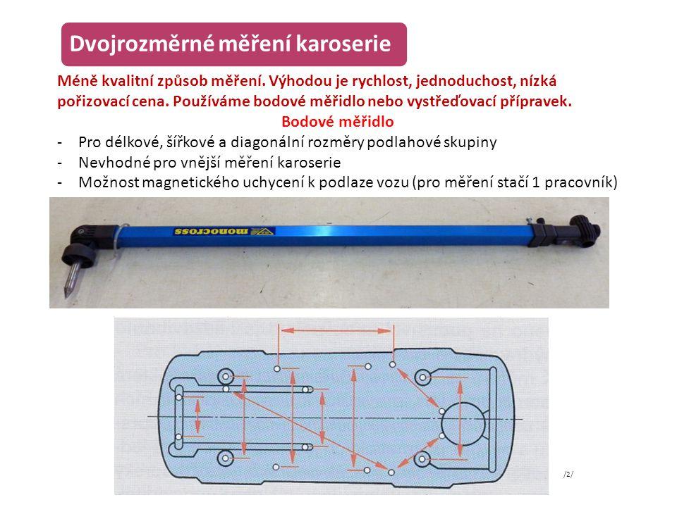 Dvojrozměrné měření karoserie