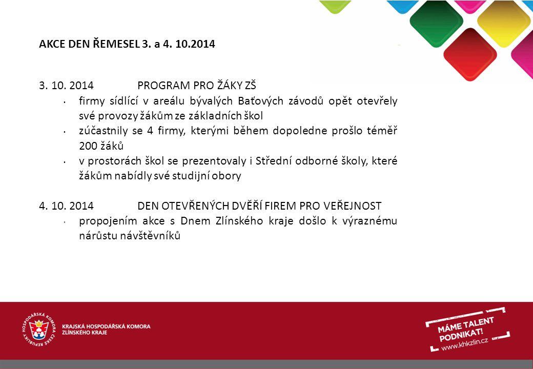 AKCE DEN ŘEMESEL 3. a 4. 10.2014 3. 10. 2014 PROGRAM PRO ŽÁKY ZŠ.