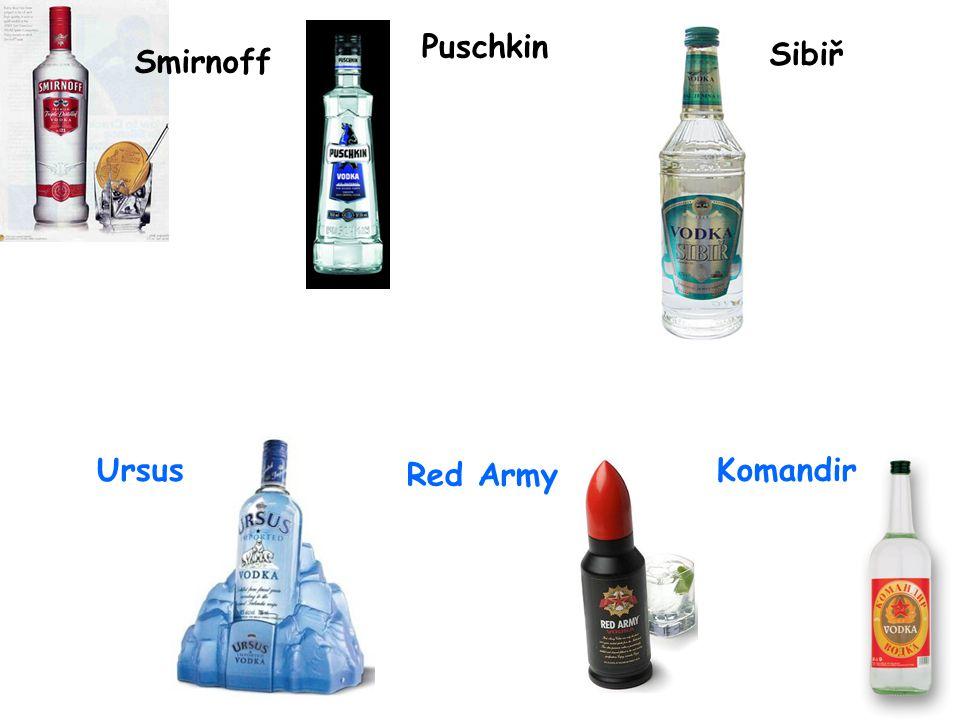 Puschkin Sibiř Smirnoff Ursus Red Army Komandir