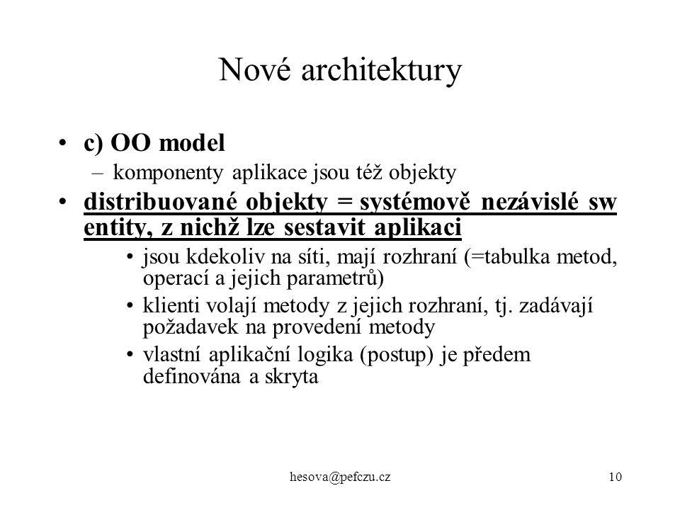 Nové architektury c) OO model