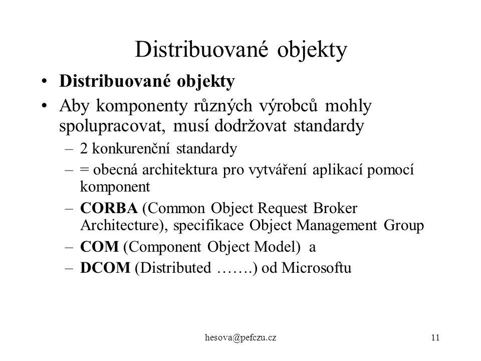 Distribuované objekty