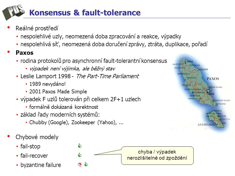Konsensus & fault-tolerance