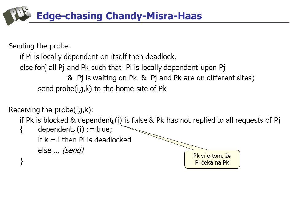 Edge-chasing Chandy-Misra-Haas