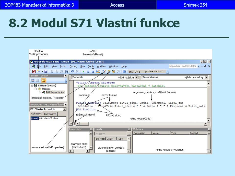 2OP483 Manažerská informatika 3