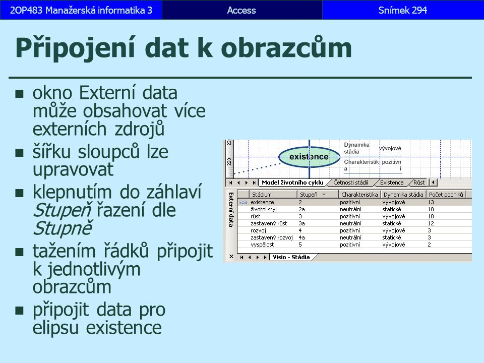 Připojení dat k obrazcům