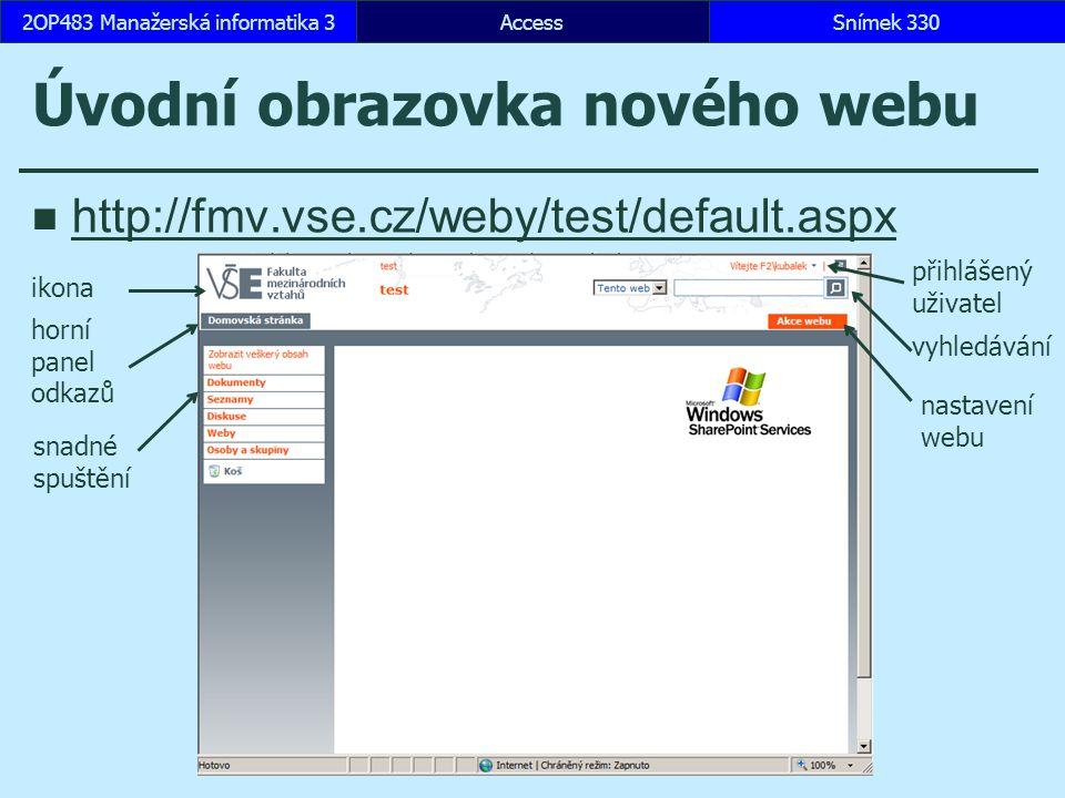 Úvodní obrazovka nového webu