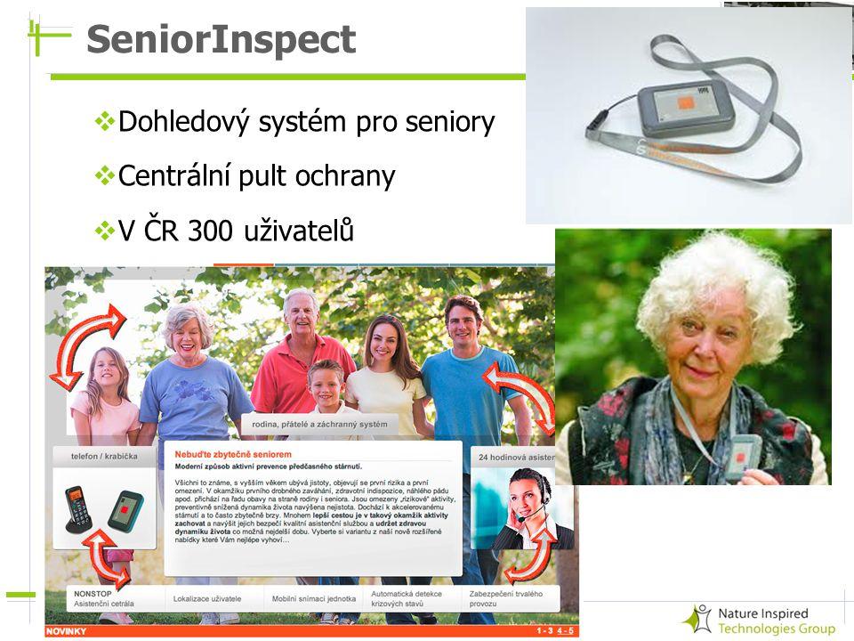 SeniorInspect Dohledový systém pro seniory Centrální pult ochrany