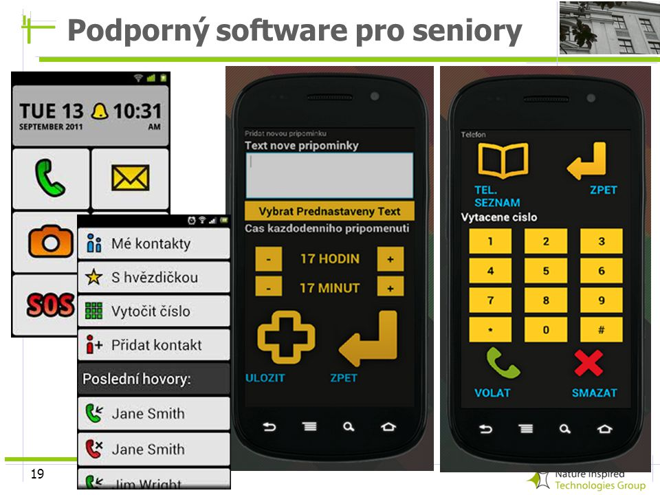 Podporný software pro seniory