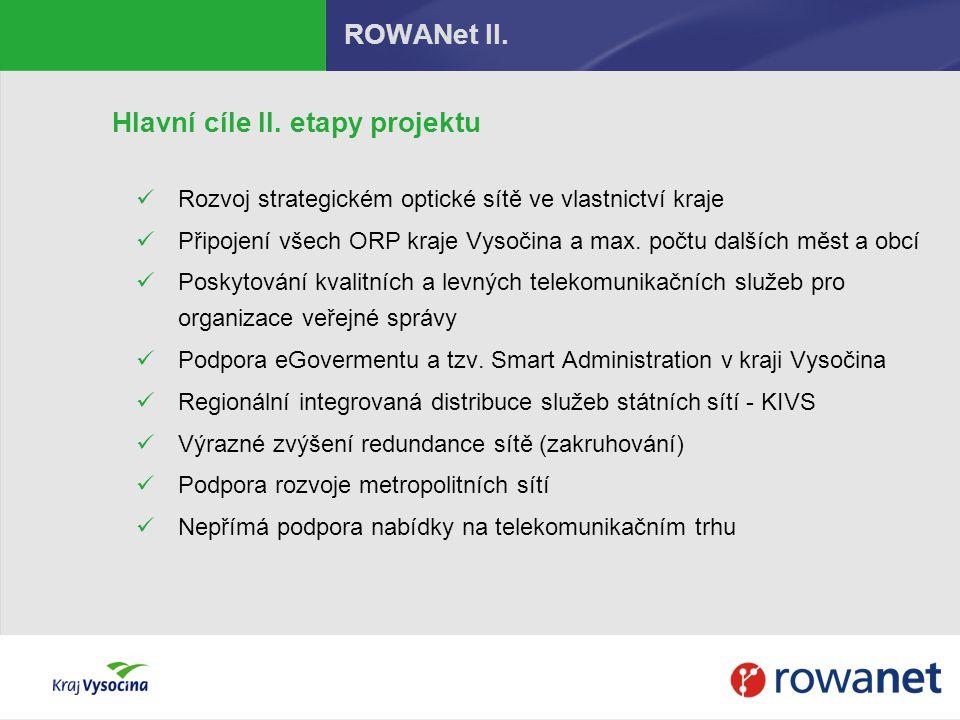 Hlavní cíle II. etapy projektu