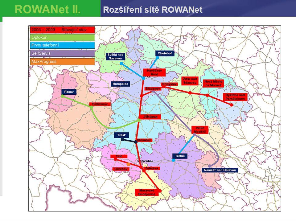 ROWANet II. Rozšíření sítě ROWANet 10.4.2017 25
