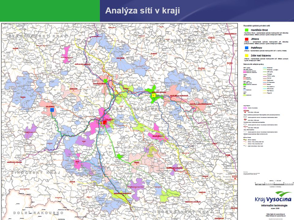 Analýza sítí v kraji
