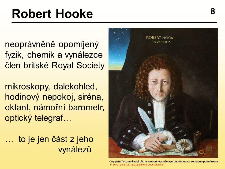 Robert Hooke 8 neoprávněně opomíjený fyzik, chemik a vynálezce