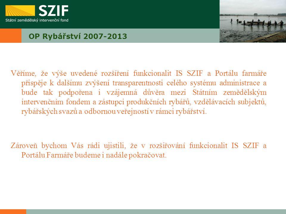 OP Rybářství 2007-2013