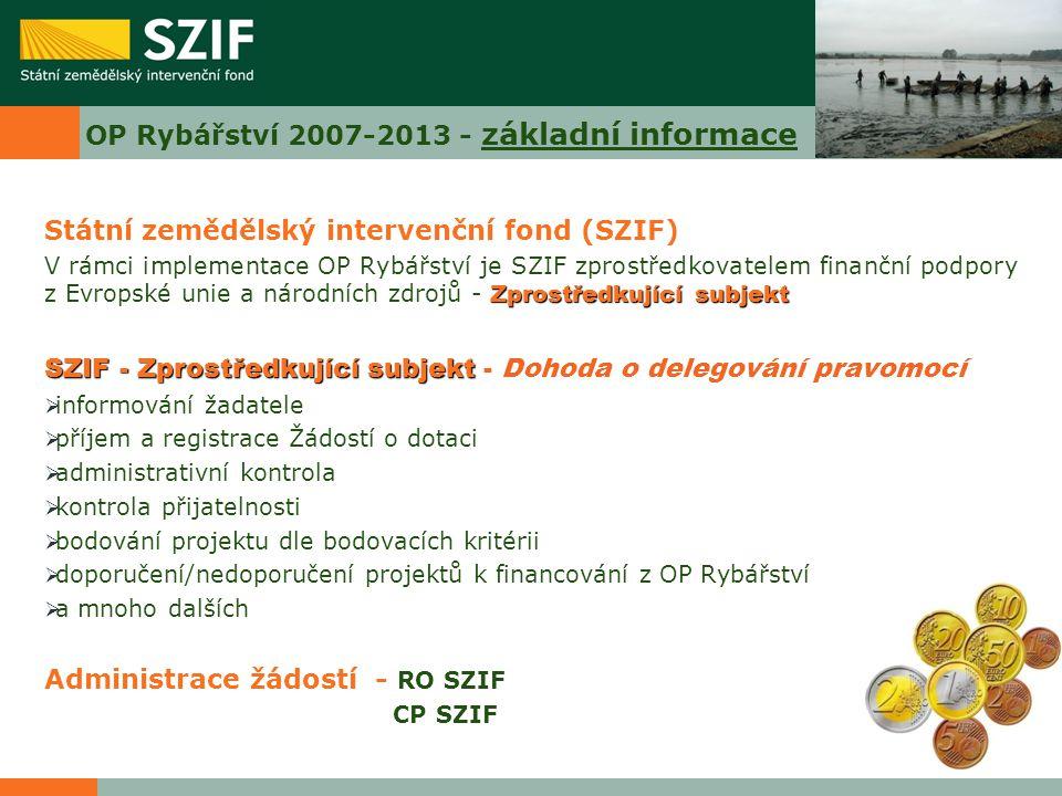 OP Rybářství 2007-2013 - základní informace