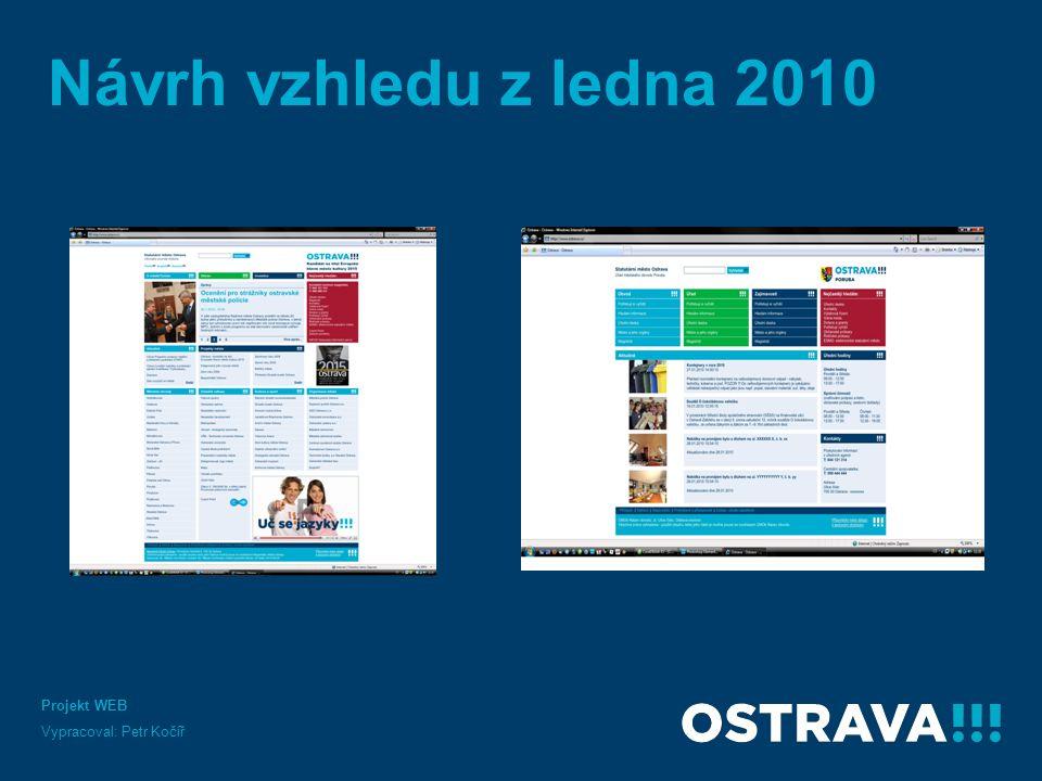 Návrh vzhledu z ledna 2010 Projekt WEB Vypracoval: Petr Kočíř