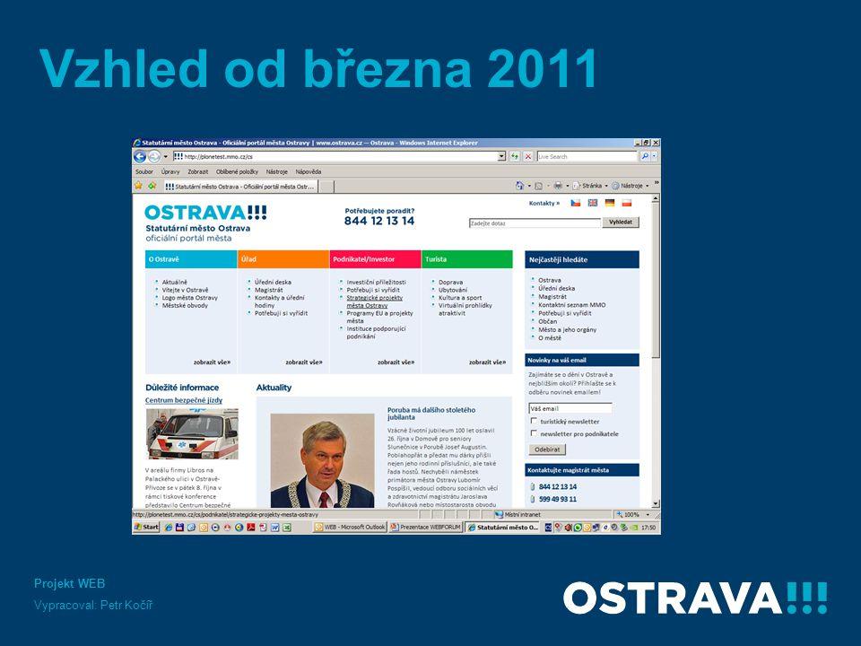 Vzhled od března 2011 Projekt WEB Vypracoval: Petr Kočíř