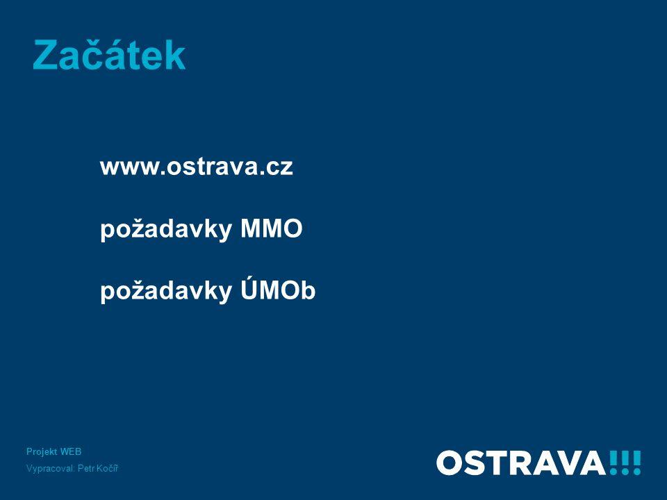 Začátek www.ostrava.cz požadavky MMO požadavky ÚMOb