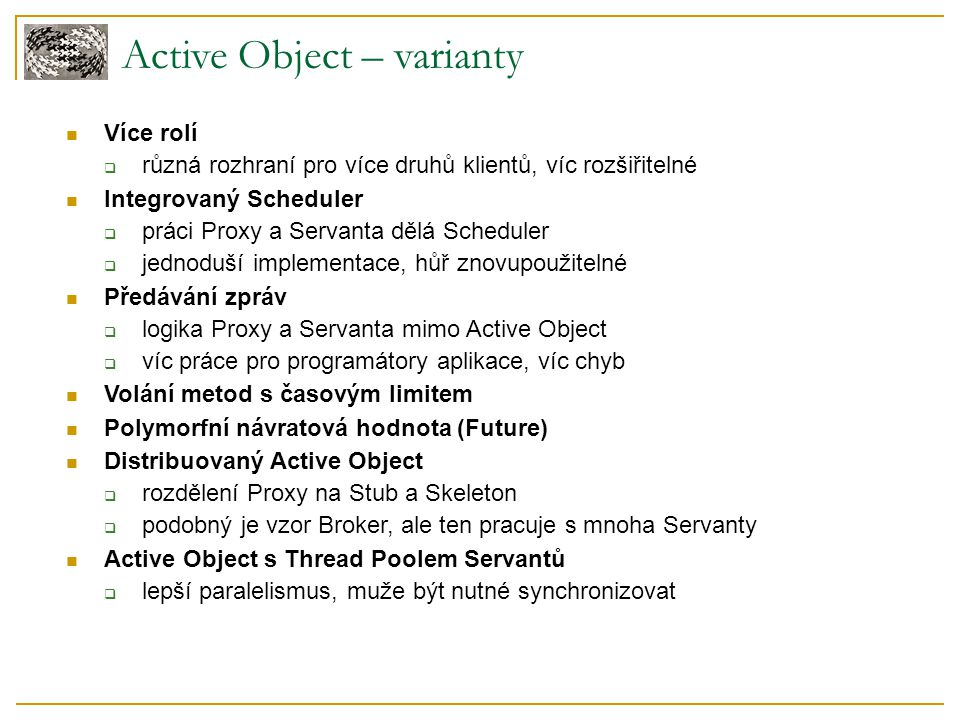 Active Object – varianty